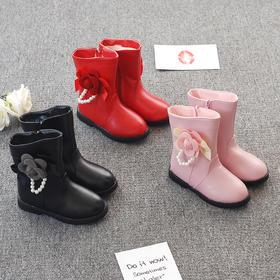 GRD-606-2新款秋冬新品朵珍珠女童棉鞋TZF