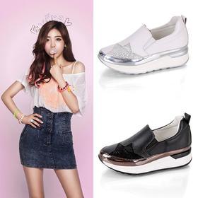 LN0111218649639新款2019韩版时尚水钻内增高小白鞋TZF