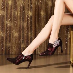 OLD-100-6-16新款高跟真皮水钻女鞋TZF