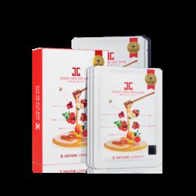 【品牌直供三盒装】韩国捷俊JAYJUN蜂蜜红果面膜25ml*5片麦卢卡蜂蜜面膜