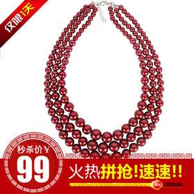 TCDZ6410B2新款纯手工珍珠时尚锁骨多层项链TZF