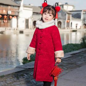 NFN-wl冬款572新款中国风毛领加厚复古保暖童装TZF