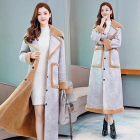 CQ-ZMFS90810新款时尚修身加厚皮毛外套大衣TZF