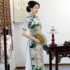 SYK-G838616款复古改良中国风中式民族旗袍裙TZF