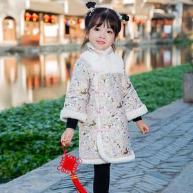 NFN-wl冬款566新款女童加厚保暖中国风拜年棉衣TZF