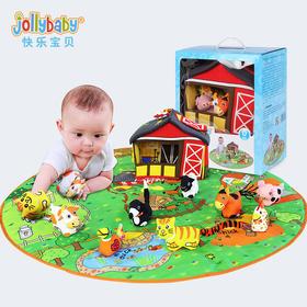 【预售】jollybaby新生儿玩具游戏毯摇铃婴儿抓握训练6-12月宝宝益智玩具0-1岁