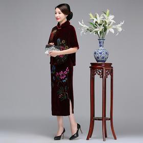 QQ9059新款时尚双层丝绒披肩旗袍外套TZF