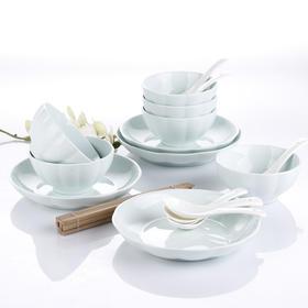爱依瑞斯金瓜青瓷18头陶瓷餐具套装AS-D1801H  (巴奇索)