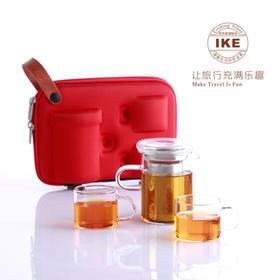 一柯旅行茶具套装YK-C308A 茶壶1个茶杯2个旅行包1个  (巴奇索)