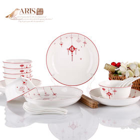 爱依瑞斯福星高照22头陶瓷餐具套装AS-D2211H  (巴奇索)