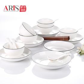爱依瑞斯简约24头陶瓷餐具套装AS-D2401H  (巴奇索)