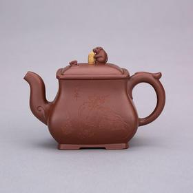 锦鼠纳福 紫砂壶