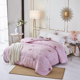 花花公子生态羊毛被 粉色200cm*230cm(巴奇索)