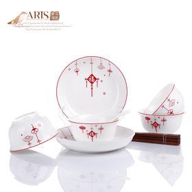 爱依瑞斯福星高照12头陶瓷餐具套装AS-D1211H  (巴奇索)