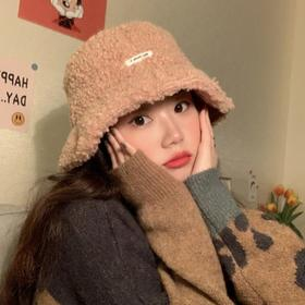 【清仓特价 不退不换】HLFZ-WM1928新款韩版羊羔毛网红款渔夫帽TZF