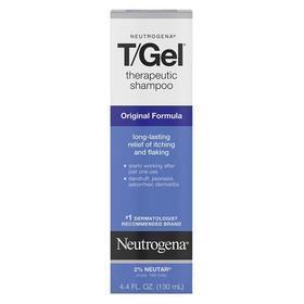 美国Neutrogena露得清T/Gel 煤焦油去屑止痒控油洗发水 130ml*2