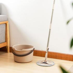 单筒折叠旋转拖把 ,强如吸尘器,脏污1遍过,一按自动洗净甩干