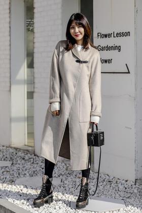 Maison Covet 羊绒系列 双面纯山羊绒斗篷大衣