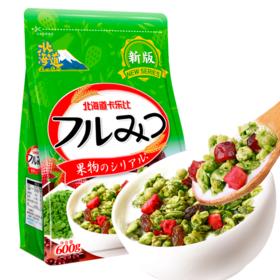 【精选】北海道卡乐比抹茶风味谷物麦片|即食代餐 营养美味|600g/袋【休闲零食】
