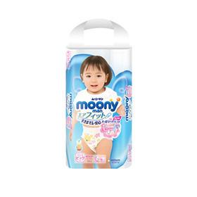 四件装 尤妮佳 moony女宝拉拉裤XL38