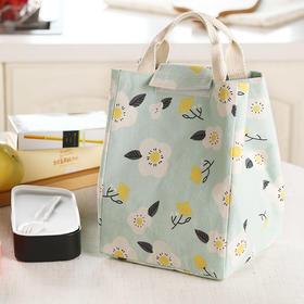 H&3森系清新手提包保温便当包收纳包午餐带饭保温包