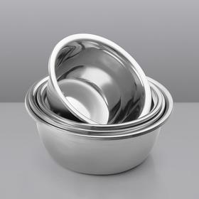 H&3 五件套厨房加深加厚磨砂201不锈钢盆料理盆洗菜盆