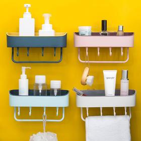 【ins风免打孔沥水置物架】浴室厨房粘贴收纳架洗漱用品储物架调味罐