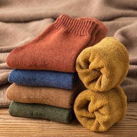 5双装【冬日里的暖阳】-20°C抵御严寒的毛圈袜 一双顶三双