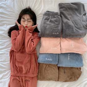「仙女暖暖衣」拒绝臃肿,升温8℃!日系绵绵珊瑚绒套装家居睡衣冬季保暖抗寒双面柔绒