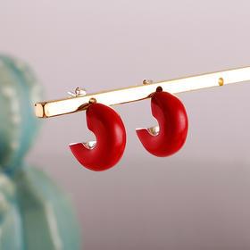 相约银饰S925耳钉国风有礼系列戏韵浮生赤色耳钉