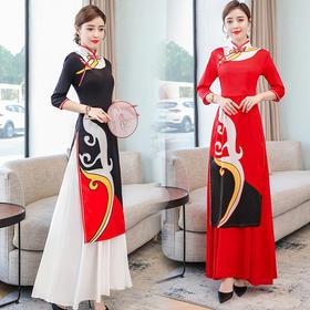 GN-FS9366新款改良七分袖旗袍中国风连衣裙TZF