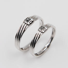 【520我爱你】*s925银情侣对戒 戒指