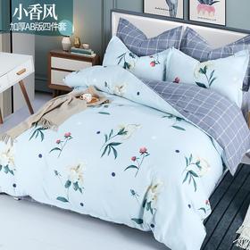 【格调简约生活】加厚AB双版设计 双面享受 床上四件套  恒温保暖 柔软亲肤 久用如新