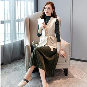【寒冰紫雨】轻奢气质3件套装女 春秋装新款  AAA7631