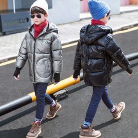 【寒冰紫雨】110-160童装4-14岁左右可穿男童装羽绒棉服亮面男学生棉袄子外套   AAA7559