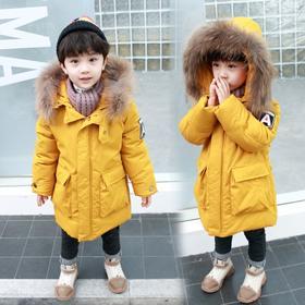【寒冰紫雨】身高90-140左右可穿 小童装2-10岁左右男童装羽绒棉服大口袋棉袄子外套   AAA7573