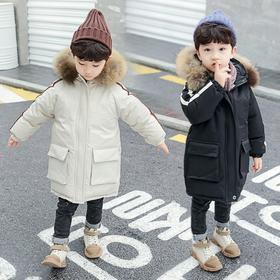 【寒冰紫雨】  大毛领儿童羽绒棉服大口袋加厚外衣  冬季童装棉衣外套女童上衣服 5-16岁左右男童女童都能穿冬款棉袄子 ~  AAA7568