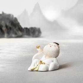 【故宫娃娃】琴棋书画诗酒茶,无忆风尘自潇洒-古风树脂猫可爱摆件