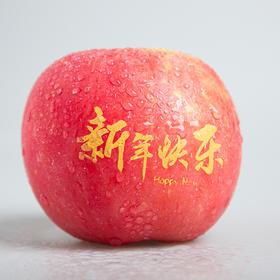 新年印花苹果精致礼盒装 陕西洛川苹果 脆甜汁多 红润饱满 12枚装