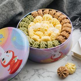 AKOKO小花曲奇饼干好吃的节日大礼包 顺丰包邮 网红休闲零食560g礼盒装
