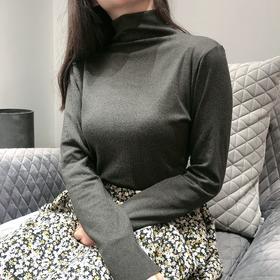 【这个冬天不怕冷!】HELLOFREE烟管领蓄热暖暖衣 恒温发热半高领打底衫  时尚百搭男女款