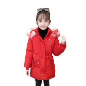 【寒冰紫雨】撞色大毛领冬季女童羽绒棉服加厚保暖棉衣外套   AAA7582