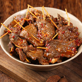 [牙签牛肉 预计2月2日起陆续发出]一口一个 下酒菜好伴侣  100g/袋 三袋装