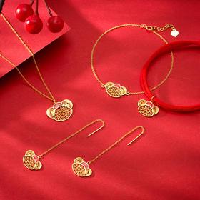 鼠你花不完·18k金花丝镶嵌首饰│ 中国千年皇家高定手艺,让你新年人美、财旺、福旺