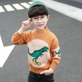 【寒冰紫雨】 都市小型男童装90-160童装幼儿园男装针织衫 小学生印花毛衣   上衣服1-14左右帅气小男生针织毛衫    AAA7578