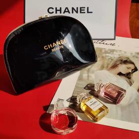 【为思礼】【送漆皮手包,口红款现货】Chanel/香奈儿香水3件口红唇釉7件套礼品包 邂逅、女士持久淡浓香水小样COCO、N5号7.5ml唇釉 口红