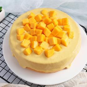 芒果奶盖蛋糕 | 抖音网红芝士流心下午茶蛋糕