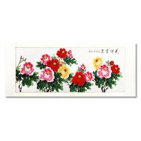 直播32号郭土生花开富贵牡丹14平尺