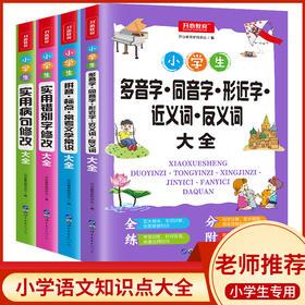 【开心图书】小学生知识点专项错别字+病句+拼音+多音字全4册