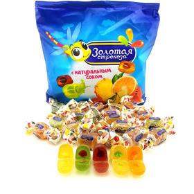 【俄罗斯网红糖】KDV金蜻蜓水果软糖500g/袋  多种口味、一袋尽享